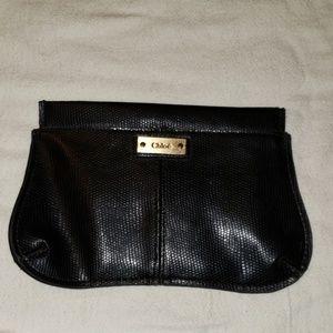 Used chloe clutch bag